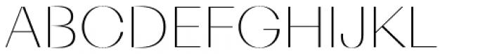 Diagram Display Thin Font UPPERCASE