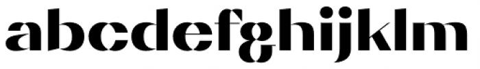 Diagram Display Ultra Font LOWERCASE