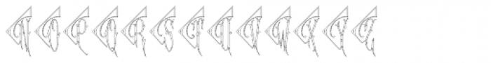Diamant Monogram Outline (250 Impressions) Font UPPERCASE