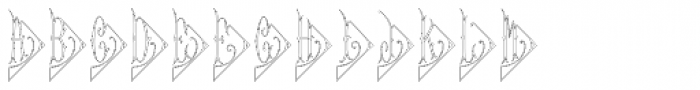 Diamant Monogram Outline (250 Impressions) Font LOWERCASE
