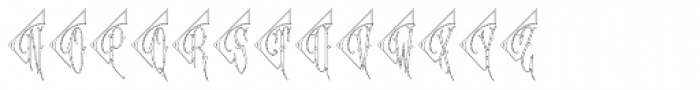 Diamant Monogram Outline (25000 Impressions) Font UPPERCASE