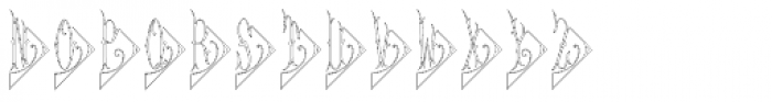 Diamant Monogram Outline (25000 Impressions) Font LOWERCASE