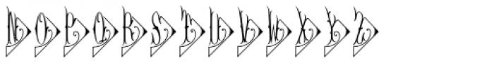 Diamant Monogram Solid (250 Impressions) Font LOWERCASE