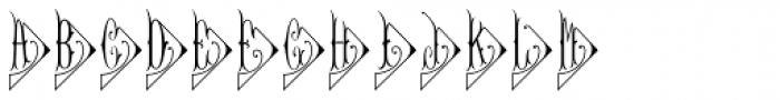 Diamant Monogram Solid (25000 Impressions) Font LOWERCASE