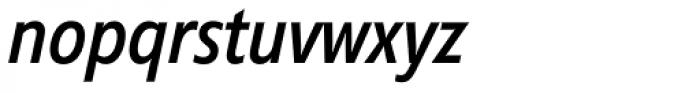 Diamanti Condensed EF Book Italic Font LOWERCASE