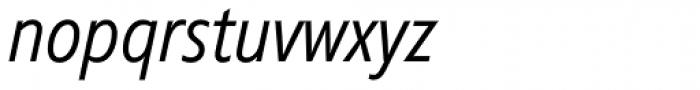 Diamanti Condensed EF Thin Italic Font LOWERCASE
