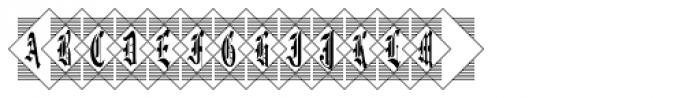 Diamond Monogram Three Characters Font LOWERCASE