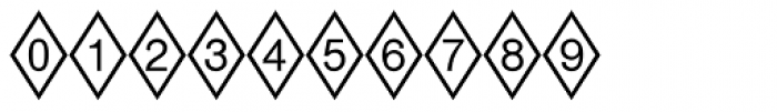 Diamond Positive Font OTHER CHARS