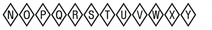 Diamond Positive Font UPPERCASE