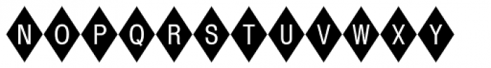 Diamond Std Negative Font UPPERCASE