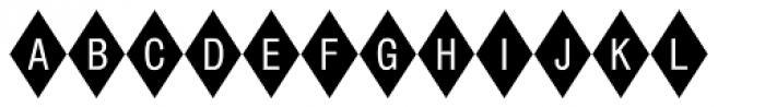 Diamond Std Negative Font LOWERCASE