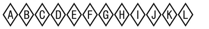 Diamond Std Positive Font UPPERCASE