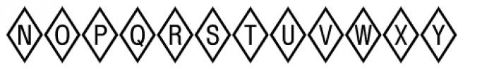 Diamond Std Positive Font LOWERCASE