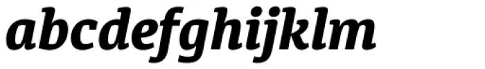 Diaria Pro Extra Bold Italic Font LOWERCASE