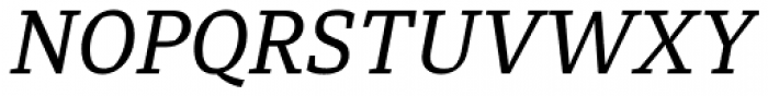 Diaria Pro Italic Font UPPERCASE