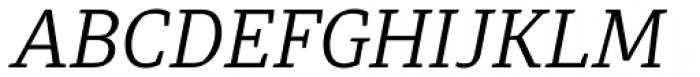 Diaria Pro Light Italic Font UPPERCASE