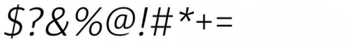 Diaria Sans Pro Light Italic Font OTHER CHARS