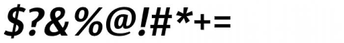 Diaria Sans Pro Semi Bold Italic Font OTHER CHARS