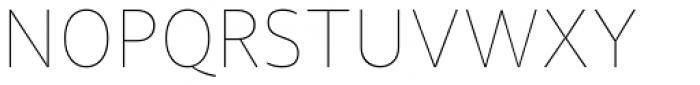 Diaria Sans Pro Thin Font UPPERCASE