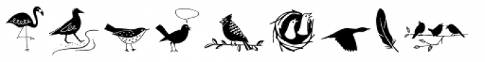 Dickybird Doodles Font UPPERCASE