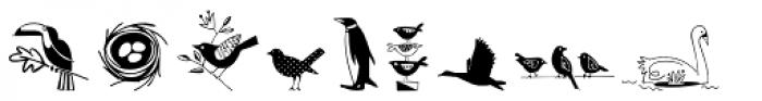 Dickybird Doodles Font LOWERCASE