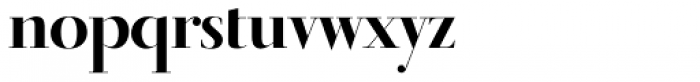 Didot Display Bold Font LOWERCASE