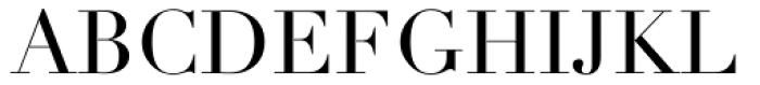 Didot LT Pro Roman Font UPPERCASE