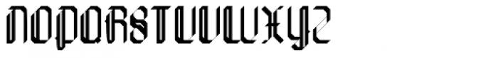Die Fette Hubbuch Ligatures Font UPPERCASE