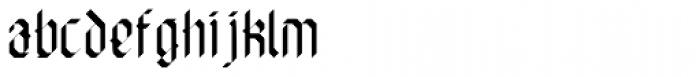 Die Fette Hubbuch Font LOWERCASE
