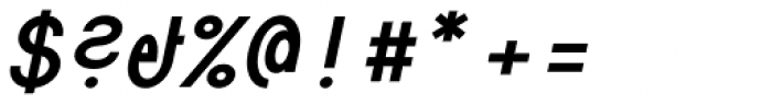 Die Monospaced Hubbuch Bold Italic Font OTHER CHARS