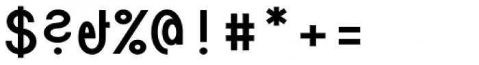Die Monospaced Hubbuch Bold Font OTHER CHARS