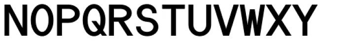 Die Monospaced Hubbuch Bold Font UPPERCASE