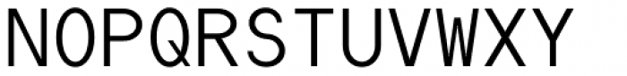 Die Monospaced Hubbuch Light Font UPPERCASE