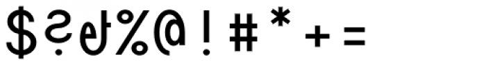 Die Monospaced Hubbuch Regular Font OTHER CHARS