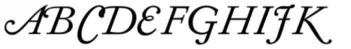 Diethelm AR Display Swash Italic Font UPPERCASE