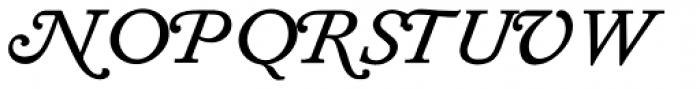Diethelm AR Swash Italic Font UPPERCASE