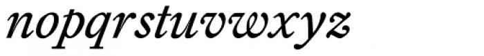 Diethelm AR Swash Italic Font LOWERCASE