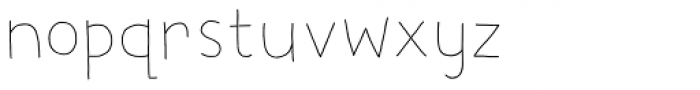 Digby Line Thin Font LOWERCASE
