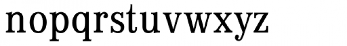 Digi Antiqua Light Condensed Font LOWERCASE