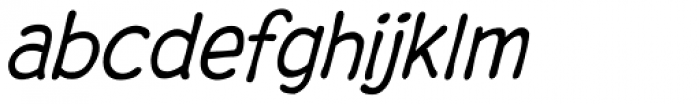 Digital Delivery Italic Font LOWERCASE