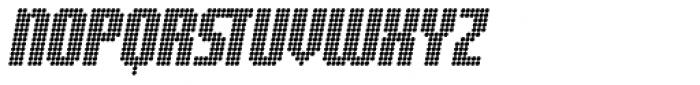 Digital Disco AOE Shortcaps Italic Font UPPERCASE