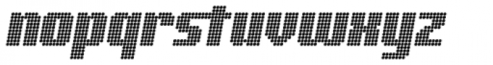 Digital Disco Heavy AOE Standard Italic Font LOWERCASE