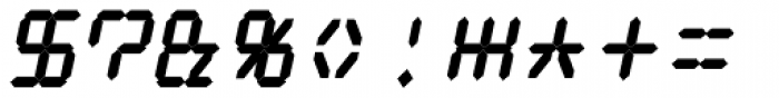 Digital Dream 2003 Fat Italic Font OTHER CHARS