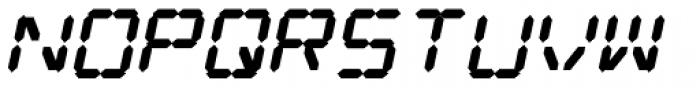 Digital Dream 2003 Fat Italic Font LOWERCASE