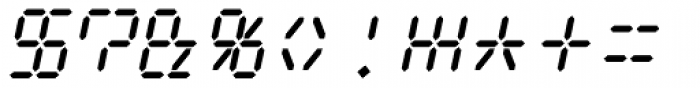 Digital Dream 2003 Italic Font OTHER CHARS