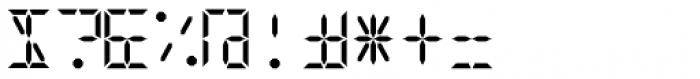 Digital-LED Bold Font OTHER CHARS