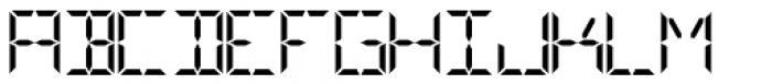 Digital-LED Bold Font UPPERCASE