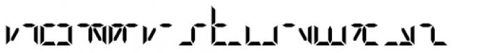 Digital-LED Bold Font LOWERCASE