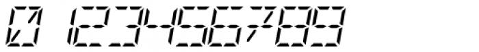 Digital-LED Italic Font OTHER CHARS