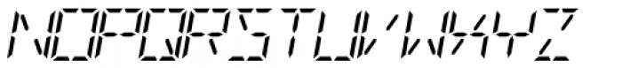 Digital-LED Italic Font UPPERCASE